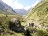 Sicht  zurück ins Leitschachtal;  Alp Heitersbüel 1539m