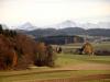bei Herrebächle: Mönch 4099m, Jungfraujoch, Jungfrau 4158m,Gletscherhorn 3983m,  Ebnefluh 3960m,