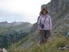 Marianne auf dem Sätteli 2116m mit Tällistock 2580m