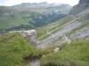 der Pfad hinunter in der Flanke des Tällistocks  und Alplibgerstocks: Barglen, Rotsandnollen