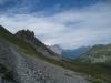 Sättelisteckleni 2178m ; Blick zurück auf Sättli; Wetterhorngruppe, Gemsberg 2658m, Schwarzhorn 2928m, Wildgärst 2891m