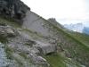 ein Blick zurück auf den Weg vom Sättli; Wetterhorngruppe