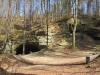 die Sandsteinhöhlen beim  Schloss Liebegg