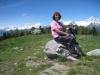 Marianne  auf dem Stand 2122m mit Bietschhorn
