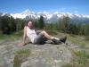 Bruni auf dem Stand 2122m mit Bietschhorn