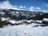 Tschiertschen 1344m; Blick auf Chüebergchöpf 2388m, Aroser Weisshorn  2653m