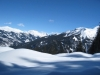 Winterlandschaft; Davoser  Weissfluh 2843m,  Schiahorn 2790m, Chüebergchöpf 2388m