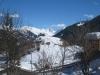 der Aussichtshügel von Tschiertschen;  Davoser Weissfluh, Schiahorn, Chüpfenhorn