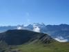 der Grat zum Wilerhorn 2305m mit:  Dossen 3138m, Wellhorn 3192m, Rosenhorn 3689m, Mittelhorn 3704m, Wetterhorn 3692m