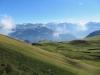 der steile Abhang des Mändle mit Turren un li, Hochstollen, hi Titlis bis Sustenhorn