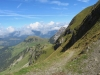 der Weg  im Steilhang Wandelen ; Alpoglerberg 1842m, Schafnase 2011m