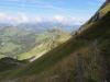 der Weg  im Steilhang Wandelen; Alpoglerberg