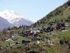 Sicht auf Ergisch: Berge des Lötschentals; Chistehorn 2700m