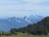 Blick auf die Mythen und Ruchen 2901m, Glärnisch 2914m,Bächistock 2914m, Rüchigrat 2657m