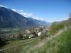 Sicht auf den Gorwetschgrat und das Dorf Varen