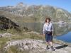 Marianne am Grimselpass  2164m , Totesee 2160m Sidelhorn 2764m