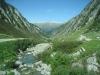 wilde Landschaft auf der Fahrt zum Nufenen; ein Blick zurück ins Tal
