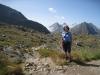 Marianne auf dem Nufenenpass 2478m; Bättelmatthorn 3044m, Rothorn 3289m, Blinnenhorn 3373m, vo  re Fülhorn 2863m