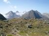 Nufenenpass 2478m; Bättelmatthorn 3044m, Rothorn 3289m, Blinnenhorn 3373m, vo  re Fülhorn 2863m, hi Merezebachschiije 3182m