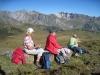 Zwischenhalt; Hinter Grauspitz 2347m, davor Schwarzhorn 2573, Naafkopf 2523m