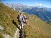 Abstieg vom Vilan; Scheseplana 2964m, Zimba 2643m, Drusenfluh 2827m, Dri Türm 2830m, Sulzfluh 2818m