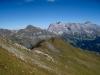beim Abstieg vom Vilan; Grat mit Fürggli 2141m : Ochsenberg; hi Tschingel 2540m,Schafberg 2727m, Salaeuelchopf 2841m,, Scheseplana 2964m