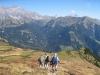 Abstieg nach Sadreinegg: Schafberg 2727m, Salaeuelchopf 2841m,, Scheseplana 2964m, Zimba 2643m