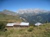 Alpgebäudeob oberhalb Sadreinegg: Tschingel 2540m, Schafberg 2727m, Salaeuelchopf 2841m,, Scheseplana 2964m