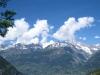 Blick gegen Visp; Jolihorn 3202m, WIlerhorn 3307m, Öugstchummenhorn 2924m, Wiwannihorn 3001m, Bietschhorn 3934m, Stockhorn 3212m