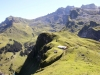Blick hinunter auf Alp Oberfeld 1826m; Chaiserstuel 2400m, Bannalper Schonegg 2250m, Hasenstöcke, Ruchstock  2814m