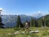 Marianne vor Glärnischmassiv;  Alpgebiet Stäfeli