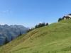 Blick zurück auf Viordereggalp 1838m;Charrenstock 2422m, Hohberg 2244m, Grat, vo Gross Siwellen 2099m, hi Gandstöck  2315m