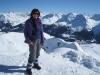 Marianne auf dem Weisshorn 2653m; Arosa