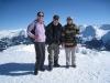 Bruni, Hanspeter und Brigitte auf dem Weisshorn 2653m;