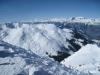 Sicht beim Abstieg vom Weisshorn; Sicht in die Surselva; Hausstock, Ringelspitz; re un Tschieertschen