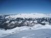 Sicht beim Abstieg vom Weisshorn; li Vilan; Falknis 2562m, vo Vilan 2376m, Vorder Grauspitz 2599m, Hinter Grauspitz 2347m, davor Schwarzhorn 2573, Naafkopf 2523m, Barthüeljoch, 2319m, Tschingel 2540m, Hornspitz 2537m,  Schafberg 2727m, Panülerelchopf 2841m, Scheseplana 2964m, Zimba  2643m, Kirchlispitzen, Drusenfluh 2827m,