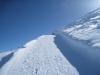 der Winterwanderweg vom Weisshorn hinunter; rel steil