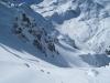 beim Abstieg  vom Weisshorn; wunderbare Winterlandschaft; arpaner Weisshorn 2776m, Parpaner Schwarzhorn 2683m