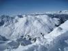 beim Abstieg  vom Weisshorn; wunderbare Winterlandschaft; li Parpaner Schwarzhorn; hi Ringelspitz