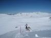 der Winterwanderweg vom Weisshorn hinunter; von Falknis bis Schesaplana, Ziba