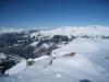 beim Abstieg  vom Weisshorn; wunderbare Winterlandschaft;  vo Vilan; hi alknis 2562m, vo Vilan 2376m, Vorder Grauspitz 2599m, Hinter Grauspitz 2347m, davor Schwarzhorn 2573, Naafkopf 2523m, Barthüeljoch, 2319m, Tschingel 2540m, Hornspitz 2537m,  Schafberg 2727m, Panülerelchopf 2841m, Scheseplana 2964m, Zimba  2643m,