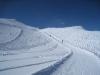 der Winterwanderweg vom Weisshorn hinunter