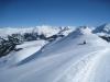 beim Abstieg  vom Weisshorn; wunderbare Winterlandschaft