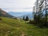 Blick hinunter ins Rheintal