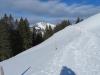 der Winterwanderweg von der Gumenalp; vo  Chlli  Horn  1687m, Stanserhorn  1842m