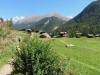 Blatten  1740m; Täschorn, Dom, vo Rothorn 3103m; hi Rimpfischhorn 4199m