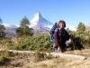 Marianne  am Leisee mit Matterhorn 4478m
