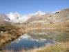 Leisee mit  Obergabelhorn 4063m, Wellenkuppe 3003m,Trifthorn 3728m, Triftgletscher, Zinalrothorn 4221m