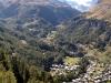 Blick hinunter auf Zermatt
