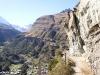 ausgesetzter Bergweg